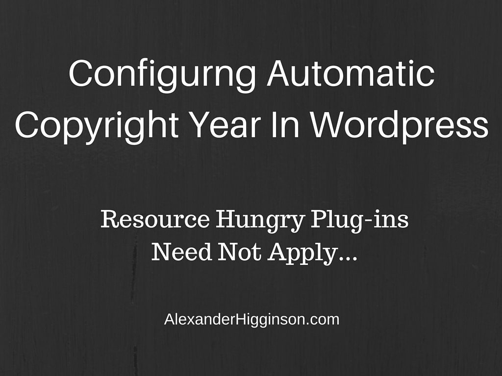 how to change copyright year in wordpress